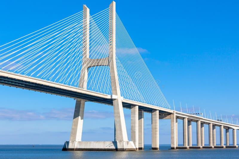 Modern bridge fragment: white against bright blue