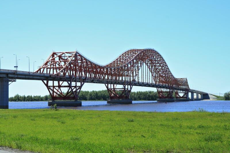 Download The Modern Bridge In Siberia Stock Photo - Image: 5590868