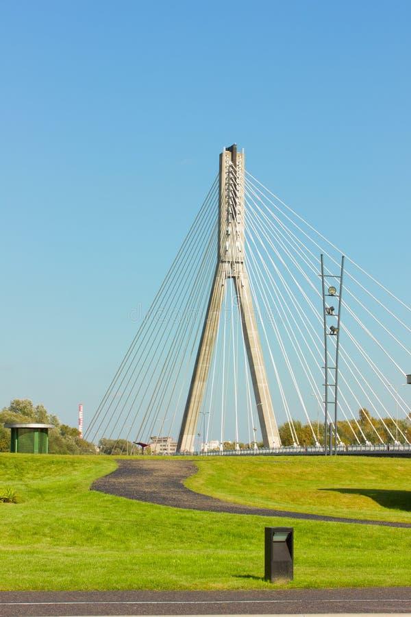 Download Modern Bridge (Swietokrzyski) In Warsaw, Poland Royalty Free Stock Images - Image: 21231599