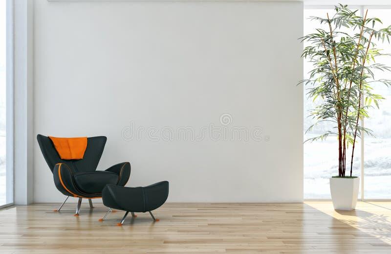 Modern bright interiors apartment 3D rendering illustration stock illustration