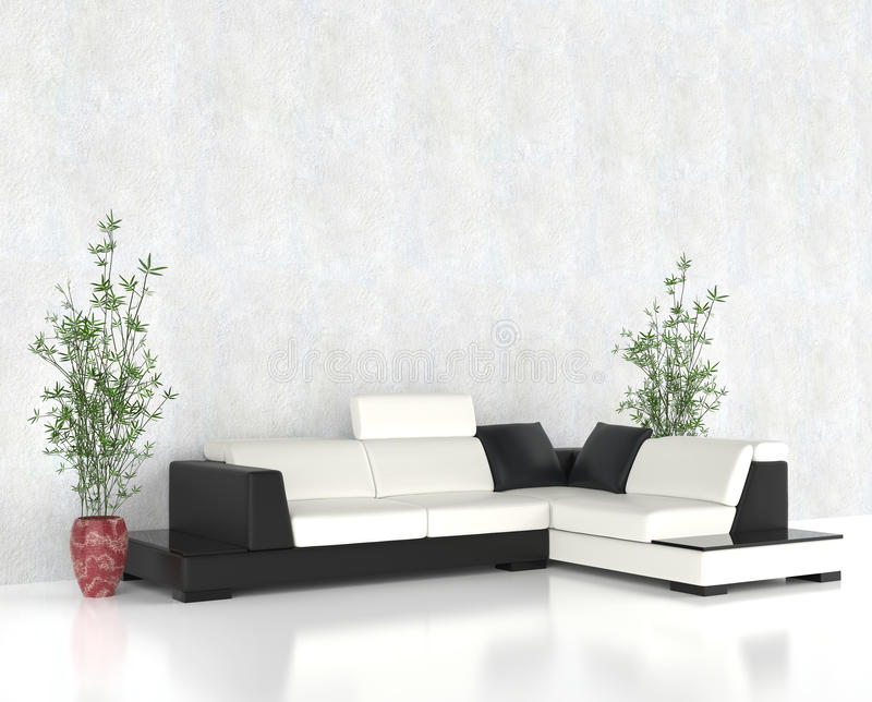 Modern bright living room royalty free stock photography