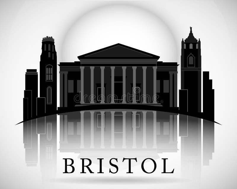 Modern Bristol City Skyline Design. England. Modern Bristol City Skyline Design vector illustration