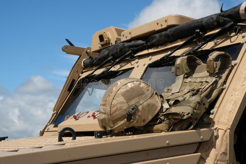 Modern Brits militair voertuig stock afbeeldingen