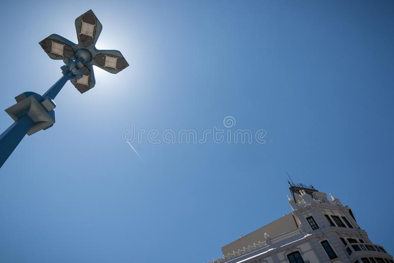 Views of the historic city of zamora stock photos