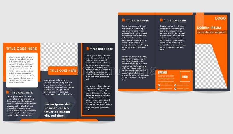 Modern Brochure business trifold flyer template.  stock illustration