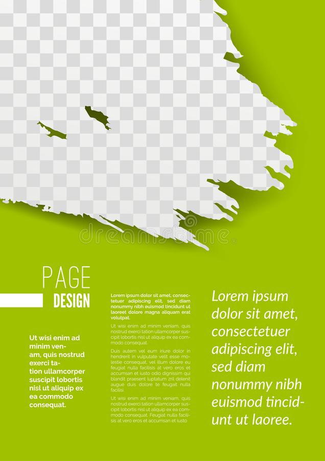 download modern brochure page design with grunge pattern stock vector illustration of look graphic