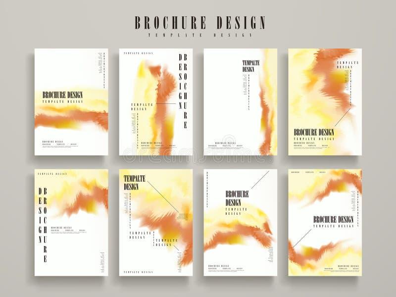 Modern brochure template royalty free illustration