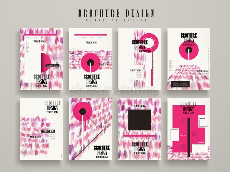 Modern brochuremalplaatje stock illustratie
