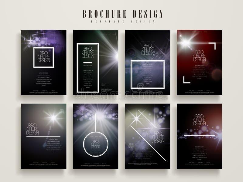 Modern brochuremalplaatje vector illustratie