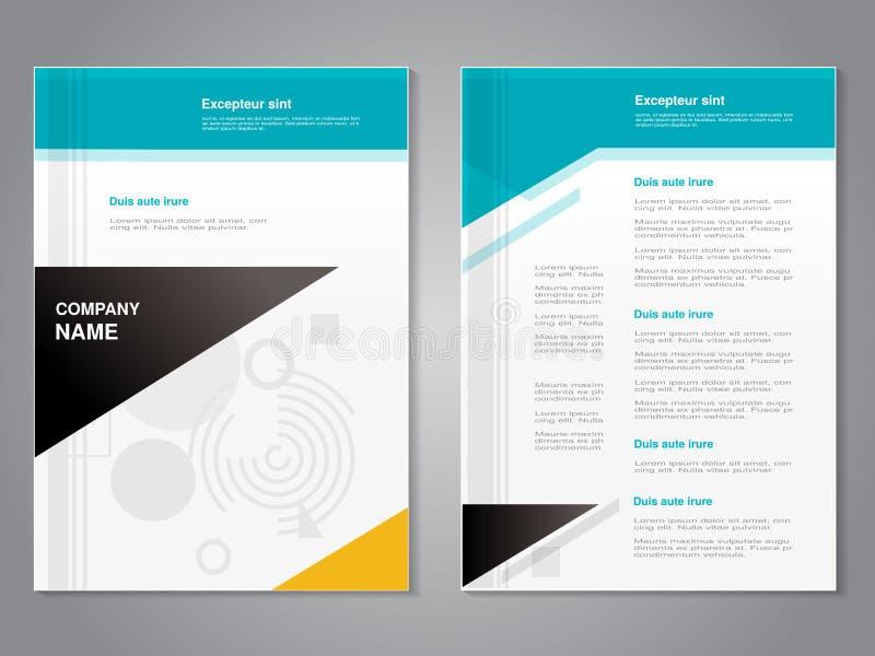 Modern broschyr för vektor med abstrakt geometrisk design, abstrakt reklamblad, abstrakt bakgrund affisch Tidskrifträkning royaltyfri illustrationer