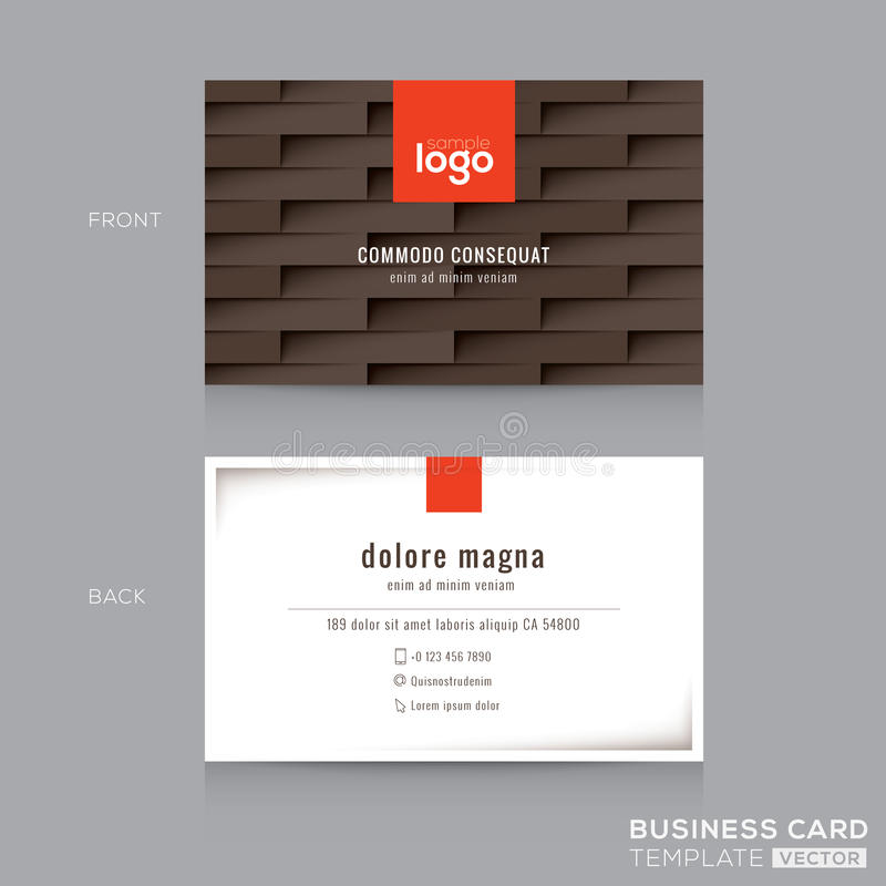 Modern Brown Business Card Name Card Template Stock Vector ...