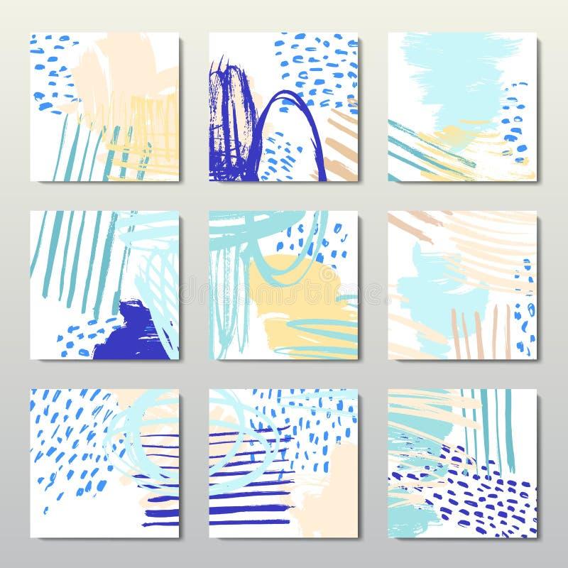 Modern brush vector postcard template royalty free illustration