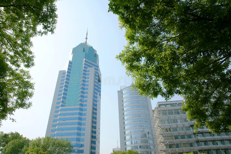 Modern building. Modern architecture in Taiyuan, Shanxi Province, China royalty free stock images