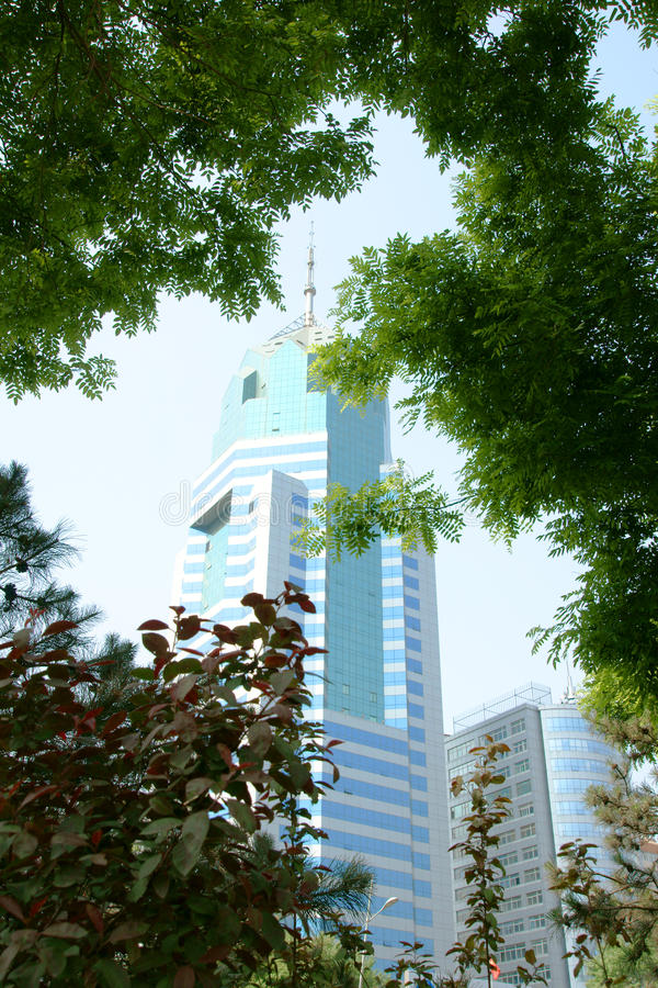 Modern building. Modern architecture in Taiyuan, Shanxi Province, China royalty free stock photos