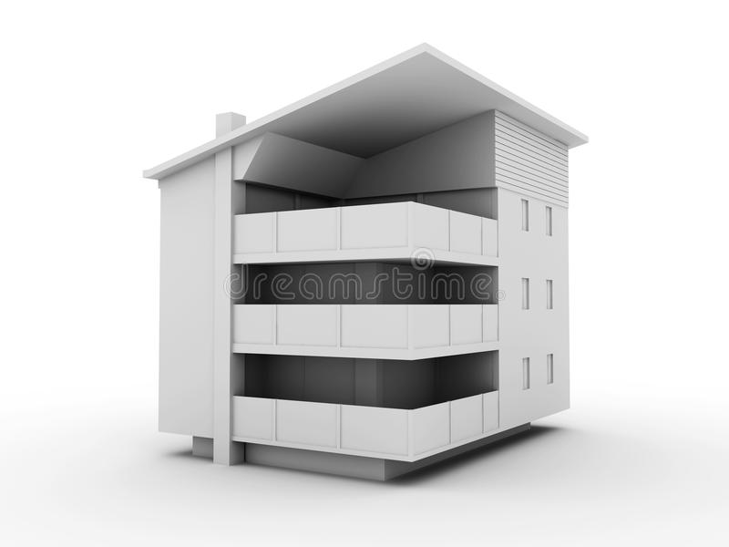 Modern building stock illustration