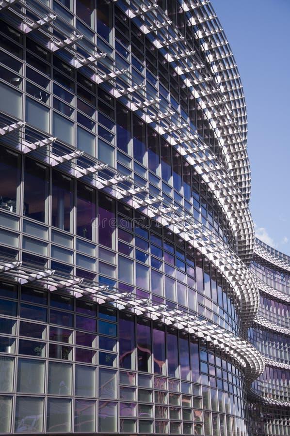 Modern building. Close up of modern building exterior royalty free stock photos
