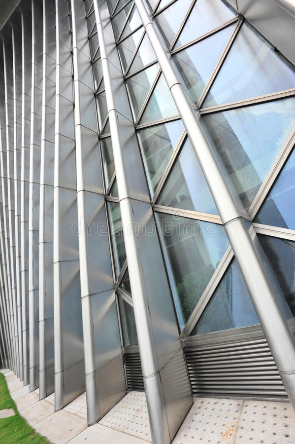 Modern building. With glass and steel royalty free stock photography