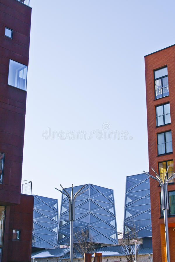 Download Modern building stock photo. Image of triangel, aluminium - 23656242