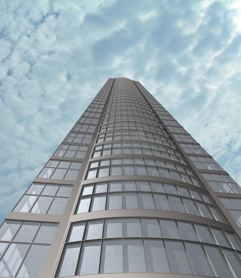 Download Modern Building (3D). Stock Photography - Image: 14123092