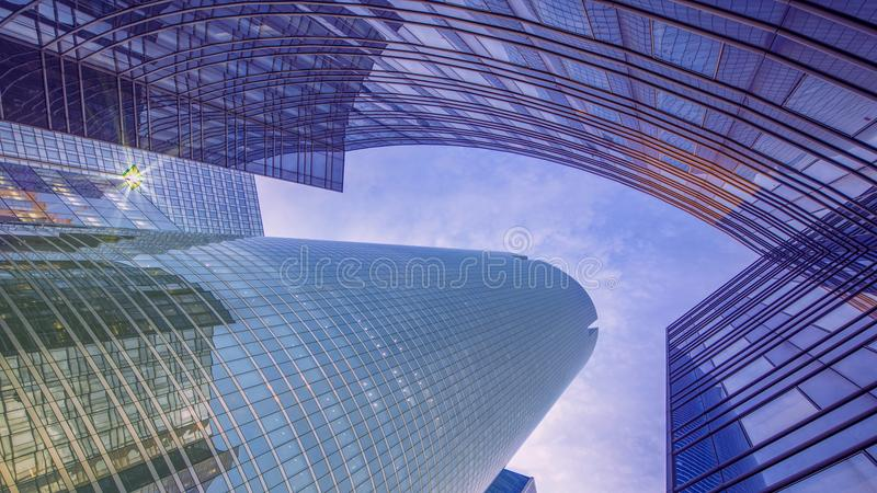 Modern Building abstract. Located at La defense, Paris, France royalty free stock image