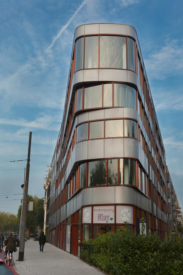 Modern building in Amsterdam, Netherlands royalty free stock photos