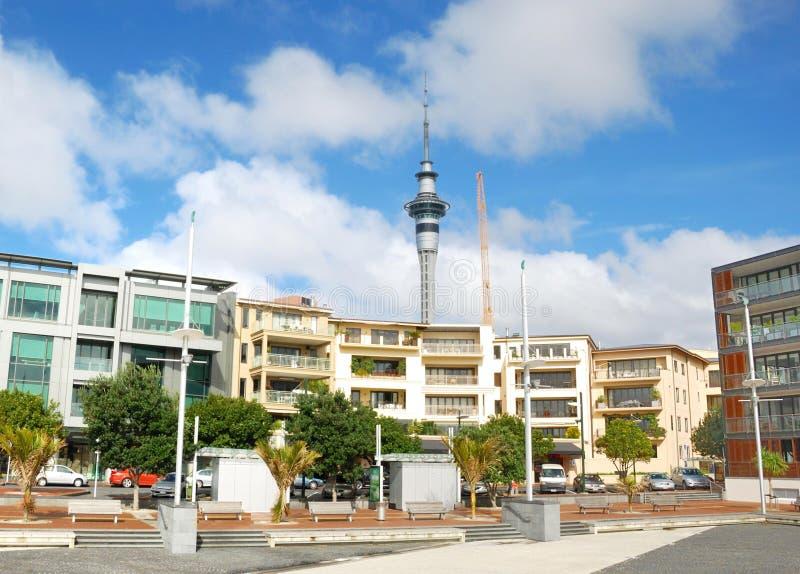 Modern building in Auckland city stock photos