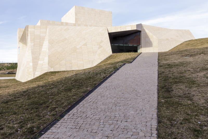 Modern building. In Avila, Spain royalty free stock photos