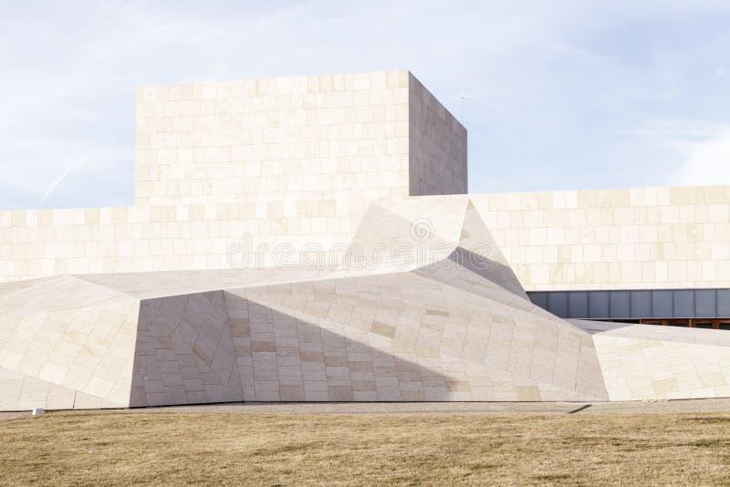 Modern building. In Avila, Spain royalty free stock photo