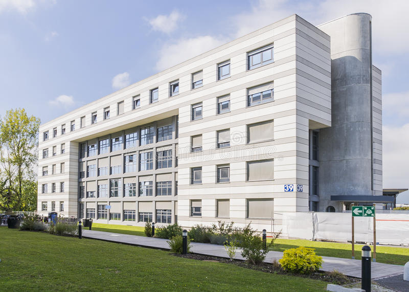Modern building in cern stock images