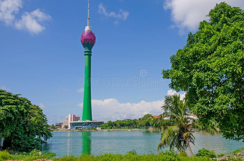 The modern building of Colombo Lotus Tower in the capital of Colombo in Sri Lanka. Modern building of Colombo Lotus Tower in the capital of Colombo in Sri Lankan royalty free stock photo