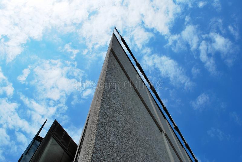 Modern building. Common modern business skyscrapers, high-rise buildings, architecture raising to the sky, sun. Concepts of financial, economics, future etc stock image