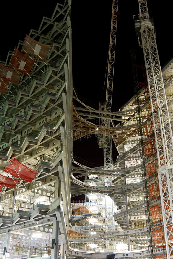 Download Modern Building Construction At Night Stock Photo - Image: 6237896