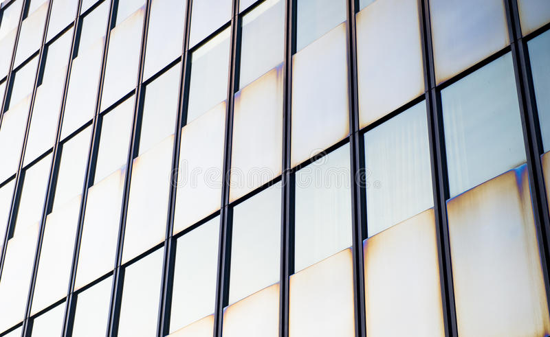 Modern building detail. Glass wall stock image