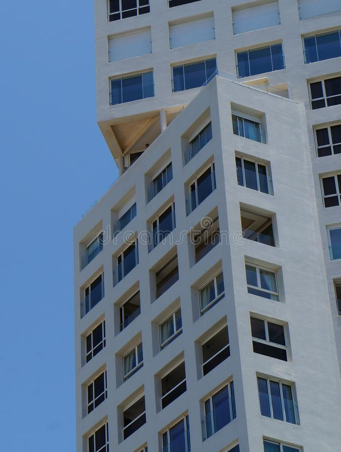 Modern building detail and blue sky. Nice modern building detail and a sky royalty free stock images