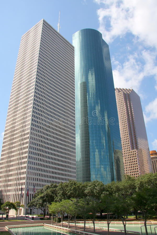 Modern building in downtown of Houston royalty free stock image
