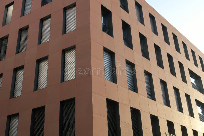 Modern building facade in Frankfurt am Main stock image