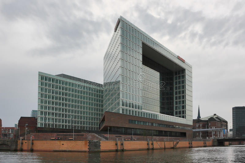Download Modern Building Of German Magazine And Publishing House Der Spiegel  In Hafencity District Of Hamburg