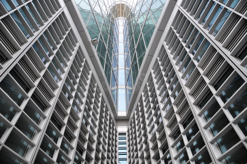 Download Modern Building Glass Symmetric Lines Stock Image - Image: 13982559