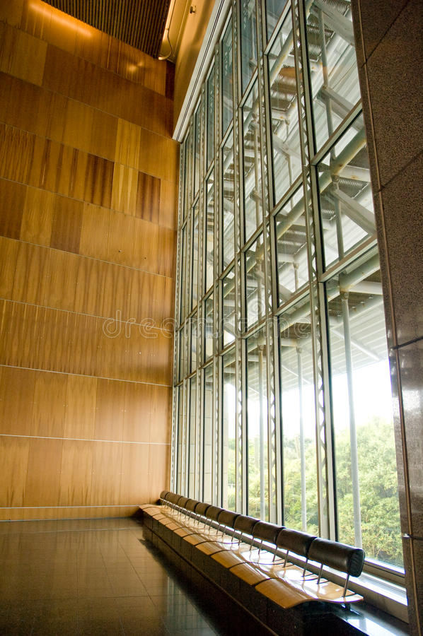 Modern Building with Glass Wall stock photo