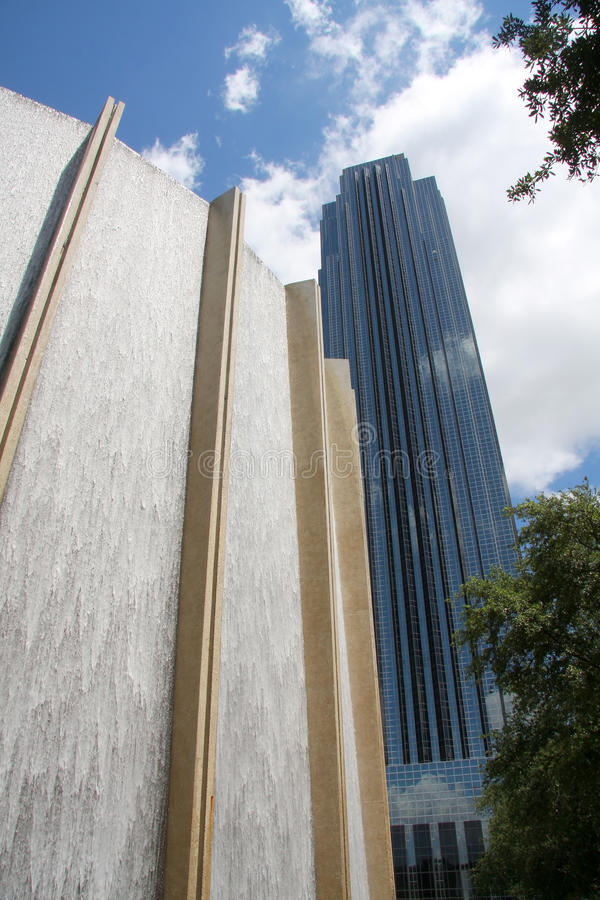Modern buildings in city Houston royalty free stock photo