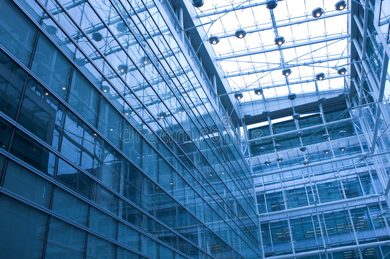 Modern building inside at daytime royalty free stock photo