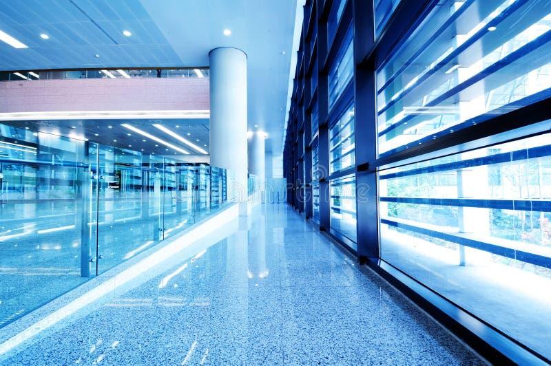 Modern building interior, Shanghai Pudong Airport. stock photos