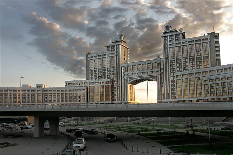 Modern building in Kazakhstan royalty free stock photos