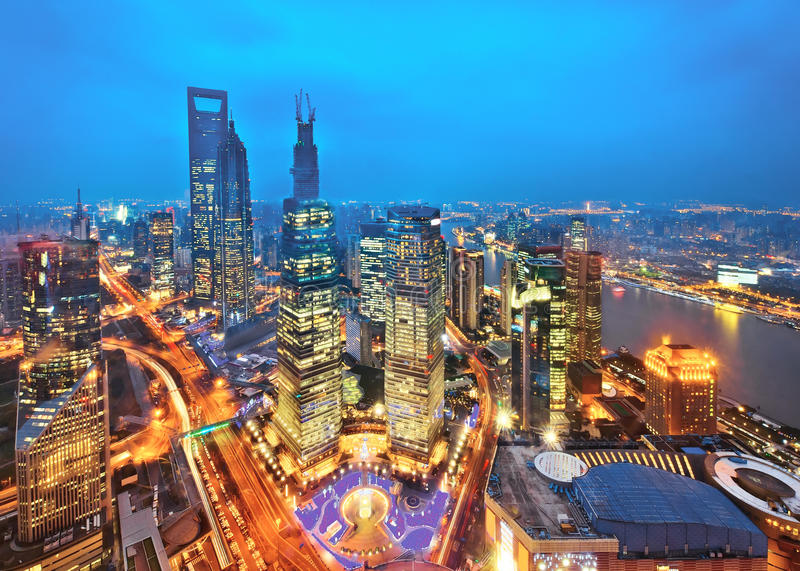 Modern building of the lujiazui financial centre. The modern building of the lujiazui financial centre in shanghai china stock photos