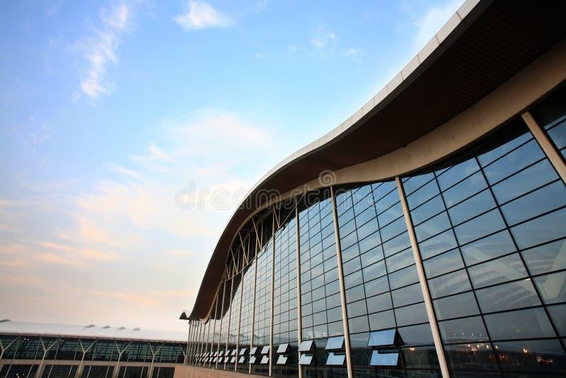 Modern building at pudong airport stock photos