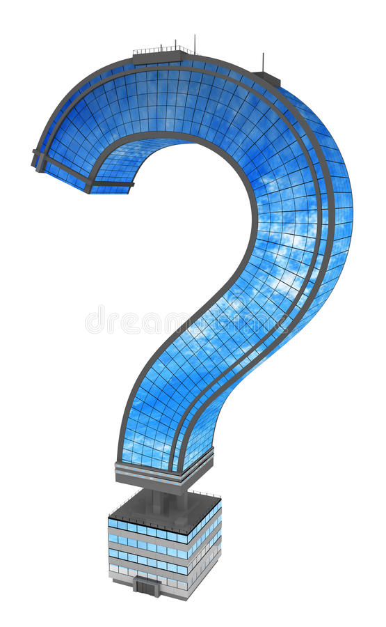 Modern Building, Question Mark Stock Image