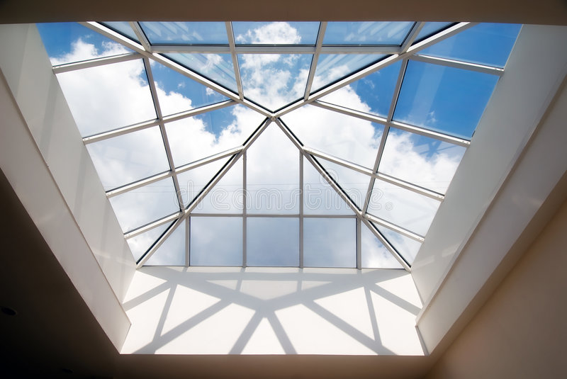 Modern building roof stock images