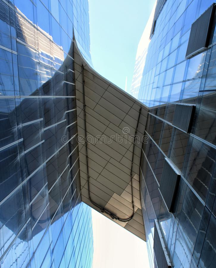 Modern building seen from below. royalty free stock photos