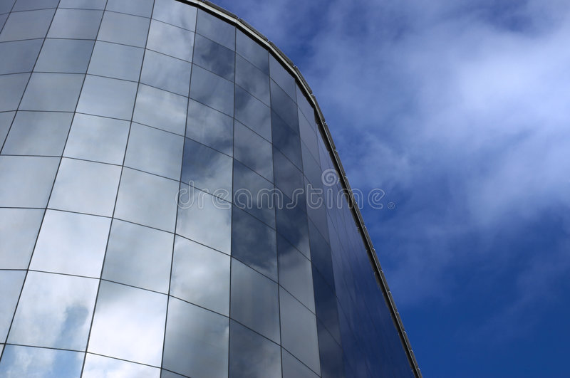 Modern building and sky reflection royalty free stock images