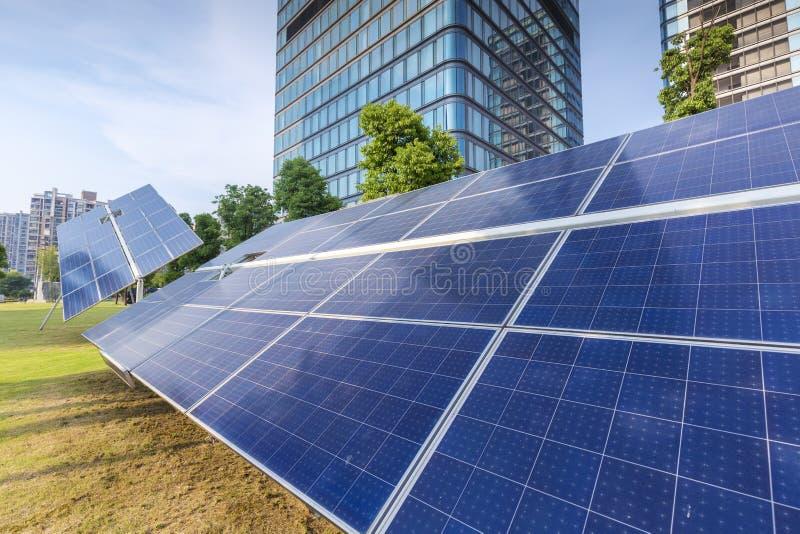 Solar photovoltaic panels stock photography